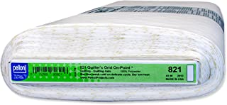 Pellon 821 Quilter's Grid On-Point - White - 45