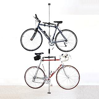 Sparehand Q-RAK II Floor-to-Ceiling Freestanding Adjustable Bike Rack Storage, Max Weight Limit 80 lbs.