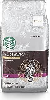 Starbucks Sumatra Dark Roast Ground Coffee, 20 Ounce (Pack of 1) Bag