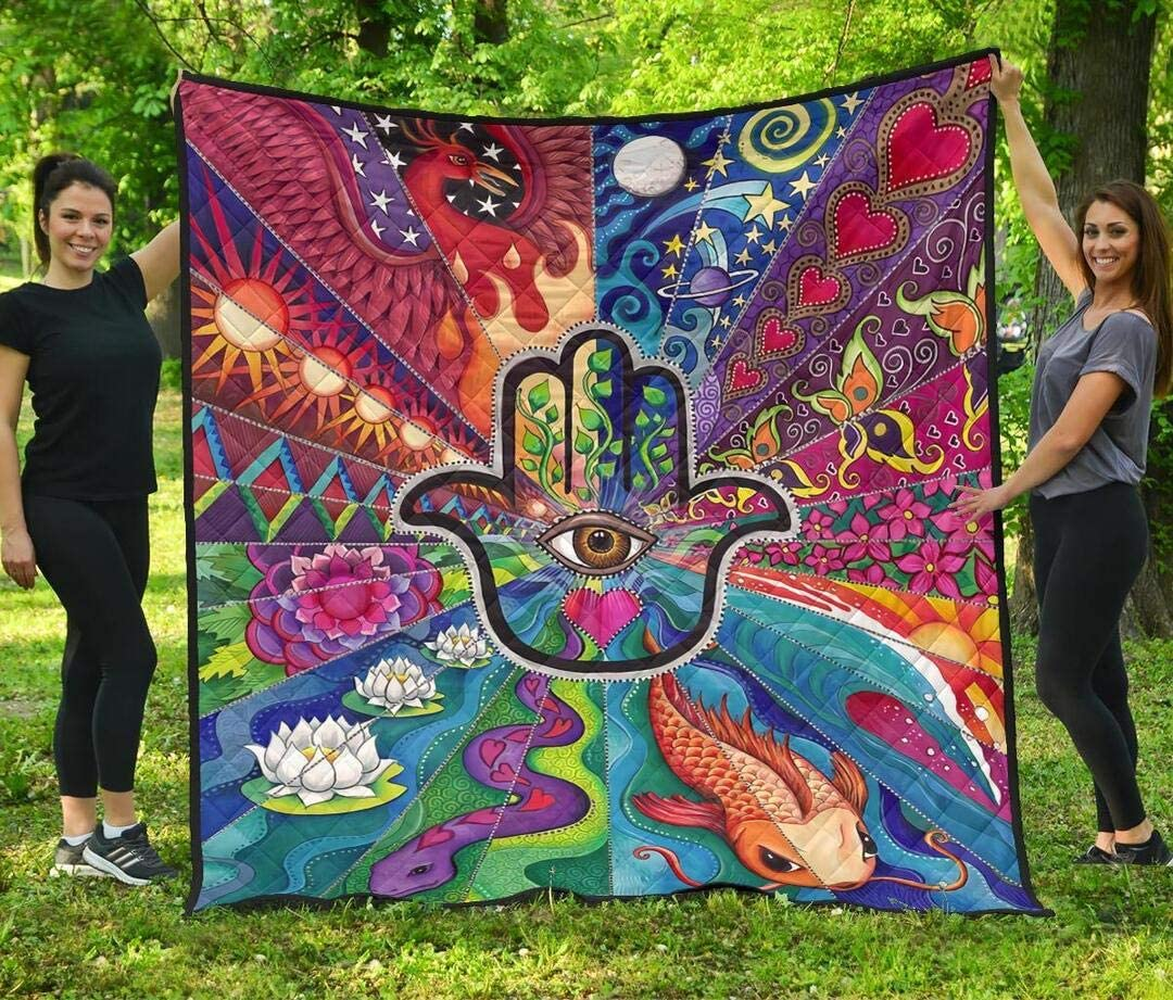 Personalized Hippie Quilt Max 62% OFF Gift for King Your Max 41% OFF Lovers Queen Twin