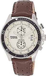 ساعة فوسيل ويكفيلد بيج للرجال بسوار من الجلد - CH2943