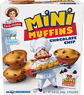 Little Debbie Chocolate Chip Mini Muffins, 20 Mini Muffins in 5 Pouches