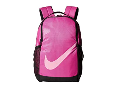 Nike Kids Brasilia Printed Backpack (Little Kids/Big Kids) (Active Fuchsia/Black/Psychic Pink) Backpack Bags
