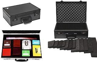 TC-A5 Black Lockable Storage Case with Sliding Divider Walls for TCG, Deck Box, Card Games, MTG, Magic, Pokemon Cards, Yug...