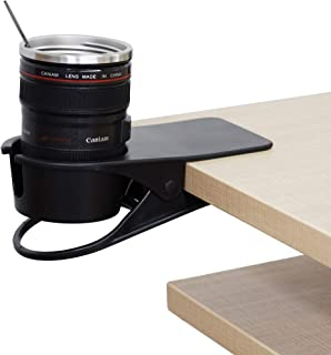 F-KING Drinking Cup Holder Clip,Desk Cup Holder,Table Edge Clamp Cup Holder,Place Water Glass, Coffee Mug, Beverage, Cell Phone.Best Office Accessories.