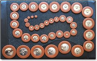 42 Zapatillas en cuero para Saxofón Alto Soundman® Resonadores en Metal Juego Universal Zapatilla 42 pcs