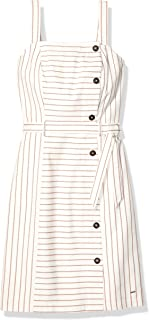 Women's Adaptive Striped Button Down Dress with Hook and Loop Closures