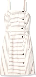 Tommy Hilfiger Women's Adaptive Striped Button Down Dress with Hook and Loop Closures