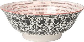 Now Designs 8 inch Stamped Bowls, Set of 6, Black Tile