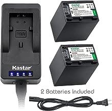 Kastar LED Super Fast Charger & Camcorder Battery x2 for Sony NP-FH100 and Sony HDR-XR200 HDR-XR500 HDR-XR520, Sony DCR-SX30 Alpha DSLR-A230 DSLR-A290 DSLR-A330 DSLR-A380 DSLR-A390, Sony DCR-DVD103