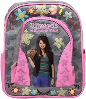 Disney's Wizards of Waverly Place Gray/Pink Floral Mini Toddler Backpack (10in)