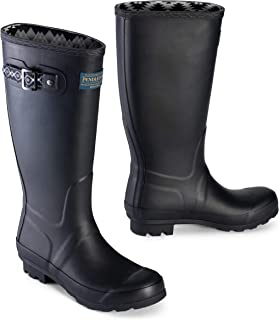 Pendleton Women`s Classic Tall Slip-Resistant Rain Boot with Accessory on The Side