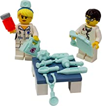 LEGO Doctor & Nurse with Medical Instruments and Bag - Custom Medicine MD, DO, RN Minifigure