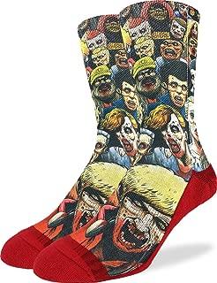 Good Luck Sock Men's Zombie Horde Socks - Red, Adult Shoe Size 8-13