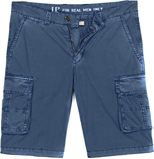 JP 1880 Bermuda Cargo Pantaloncini, Blu Denim, 60 Uomo