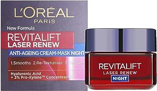 L'Oreal verjongende nachtcrème - Revitalift Laser Renew Cream-Mask Night, per stuk verpakt (1 x 50 ml)