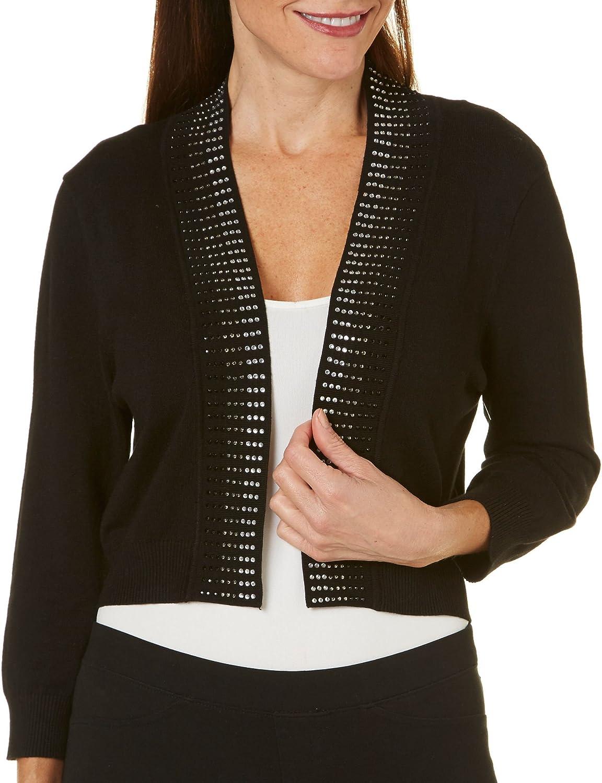 Ronni Nicole Women's 3/4 Sleeve Embellished Shrug