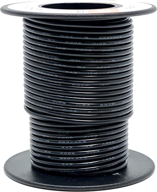 Black RadioShack 18 AWG Solid Copper Hook-Up Wire 25 Spool
