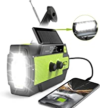 【2020 Newest】RunningSnail Emergency Crank Radio,4000mAh-Solar Hand Crank Portable AM/FM/NOAA Weather Radio with 1W Flashli...