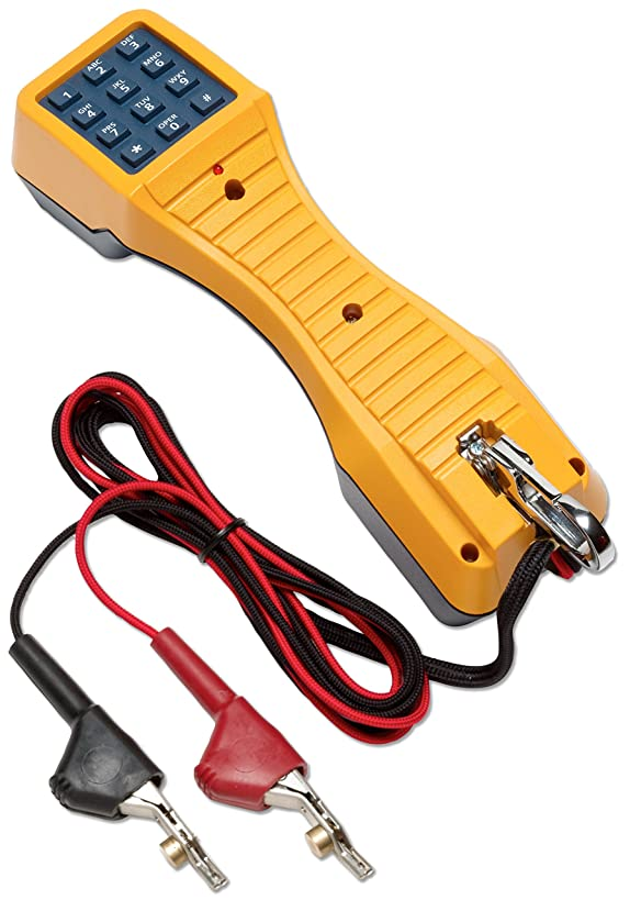 Fluke Networks 19800009 TS19 Telephone Test Set with Angled Bed-of-Nails Clips