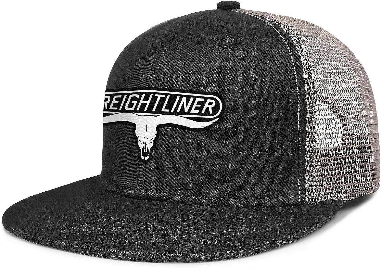 LHSPOSIFD Unisex Mens Baseball Hat Casual Adjustable Mesh Visor Freightliner-Trucks-Flat Cap