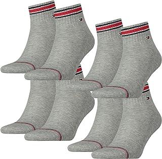 Tommy Hilfiger, Calcetines deportivos con suela de rizo, juego de 4 unidades, para hombre