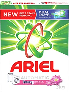 Ariel Automatic Powder Laundry Detergent, Touch Of Freshness Downy, 3 KG
