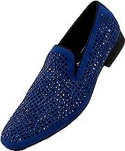 Amali Men's Velvet Embellished Smoking Slipper Loafer Dess Shoe, Style Devy