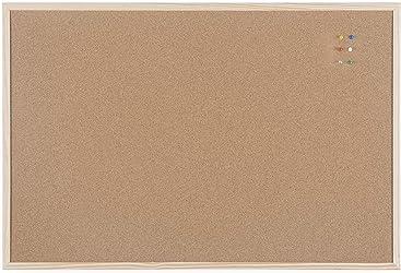 Bi-Office Lavagna Nera Per Gesso Optimum Cornice MDF Bianca Opaca 60 x 45 cm