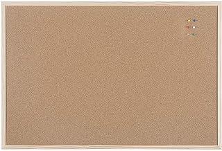Bi-Office Budget - Tablero de corcho con marco de madera, 90