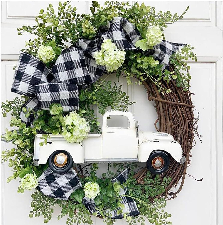 Farmhouse Pumpkin Truck Wreath-Autumn Vintage Decoration Oakland Mall Popular overseas Nature