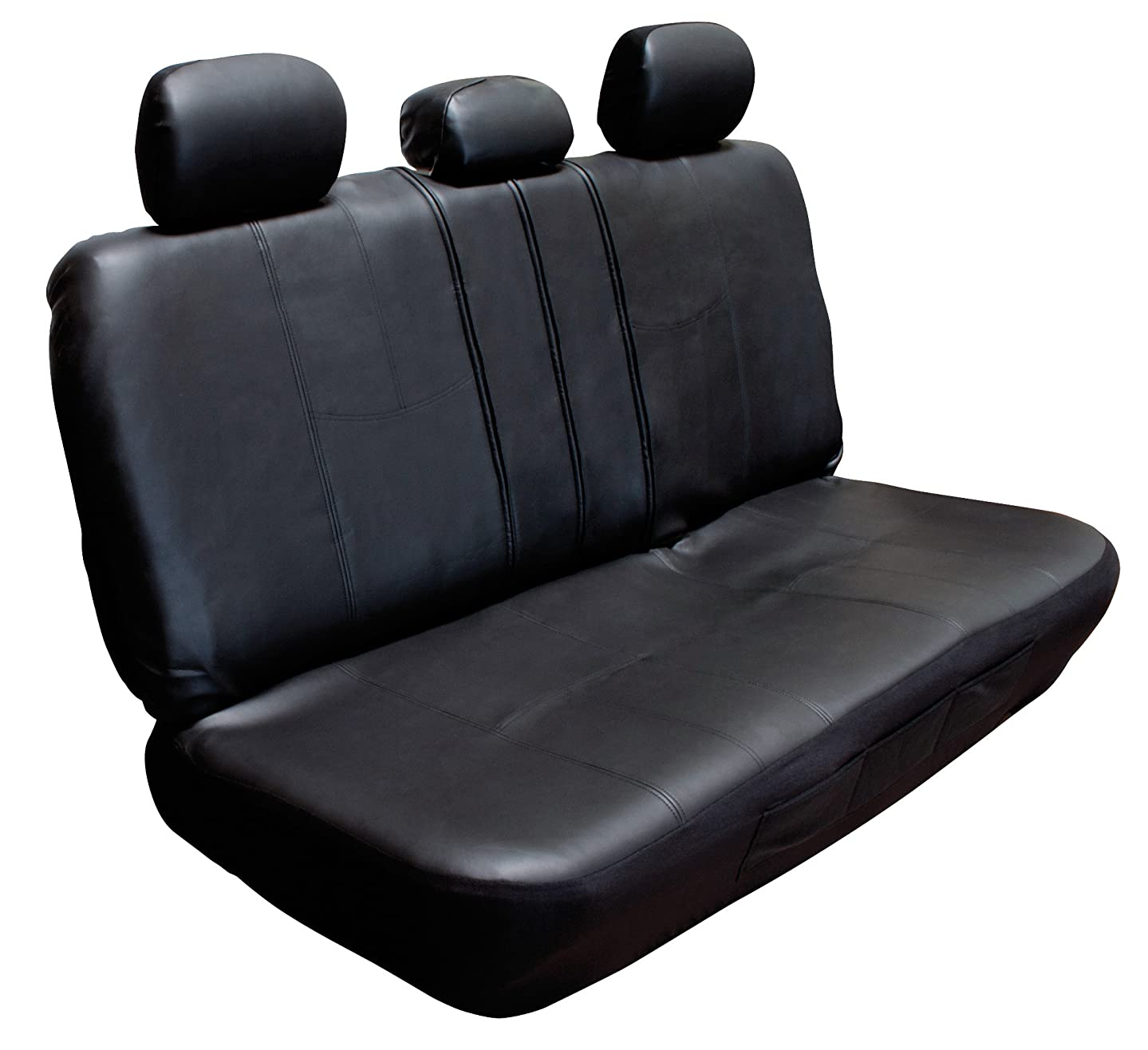 Type S (SC31347-6 Black Faux Leather Rear Seat with Zipper