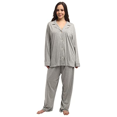LAUREN Ralph Lauren Plus Size Hammond Knits Pajama Set (Heather Grey) Women