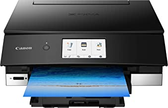 Canon TS8220 Wireless All in One Photo Printer with Scannier and Copier, Mobile Printing, Black