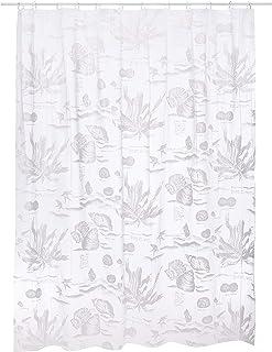 Spirella Life Style Plastic Curtain – Java White 180 x 200 1132662, White, Standard