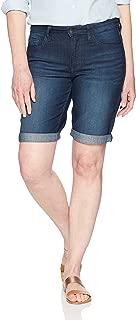 "Riders by Lee Indigo Womens Rolled Cuff Midrise Denim Bermuda Short with 10"" Inseam Denim Shorts"