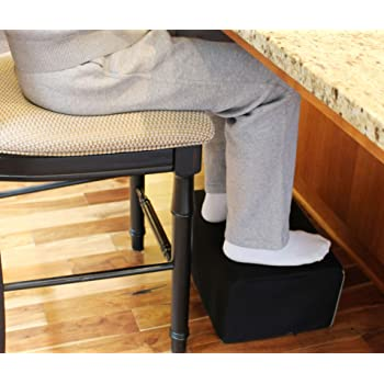 """InteVision Extra Large Foot Rest - Foam Cushion with Non-Slip Nylon Cover (17.5"""" x 12"""" x 8"""") – Designed to Support Your Legs"""