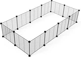 Tespo Pet Playpen, Small Animal Cage Indoor Portable Metal Wire Yard Fence for Small Animals, Guinea Pigs, Rabbits Kennel Crate Fence Tent