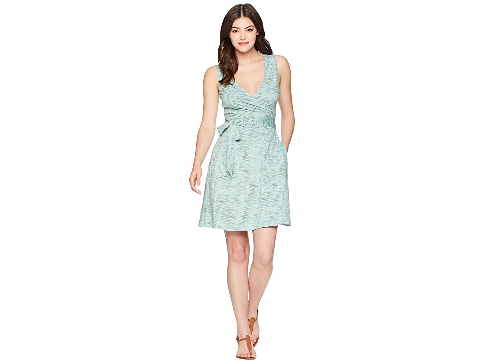 Toad&Co Cue Wrap Sleeveless Dress (Aquifer Wave Print) Women