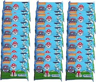 Toallitas húmedas infantiles de la Patrulla Canina. Caja 10 packs x 30 uds en packs individuales de 10 uds: 300 toallitas. Cómodo tamaño pocket para llevar en bolsillo, viajes, mochila o bolso.