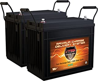 QTY 2 Vmaxtanks Vmaxslr155 AGM Deep Cycle 12v 310ah total at 12V (155ah ea) SLA rechargeable Battery for Use with Pv Solar Panels,Smart chargers wind Turbine and Inverters