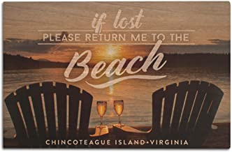 Chincoteague Island, Virginia - If Lost- Sentiment - Sunset 101743 (12x18 Wood Wall Sign, Wall Decor Ready to Hang)