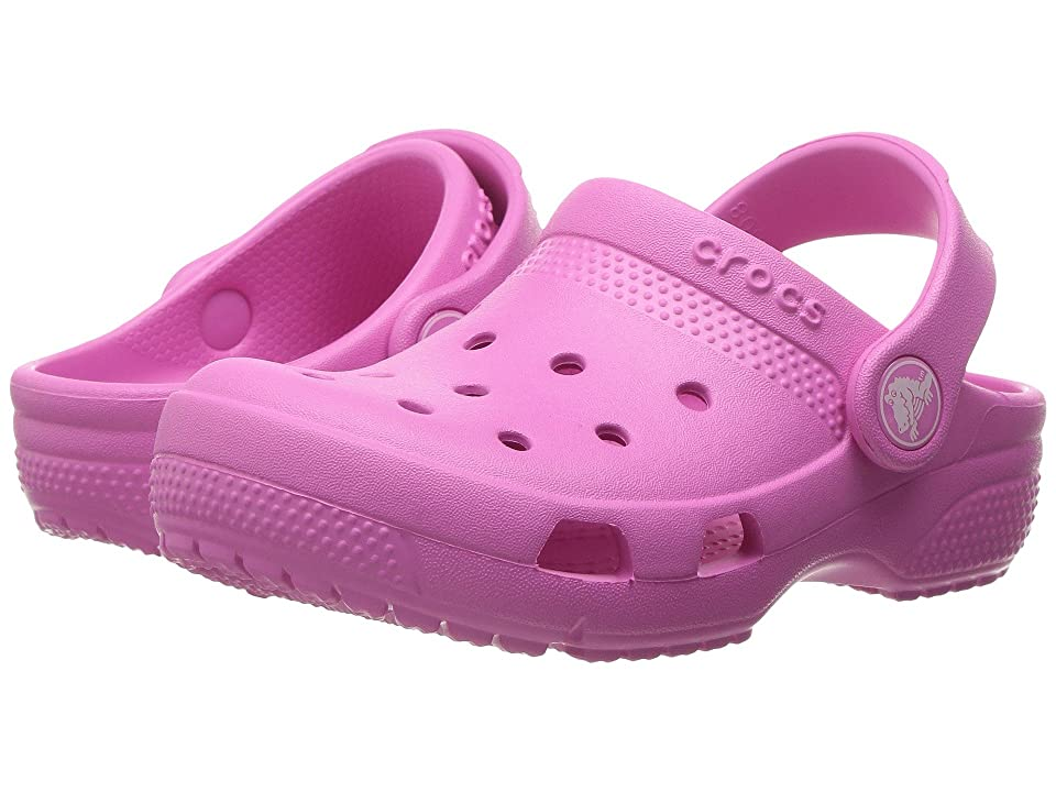 Crocs Kids Coast Clog (Toddler/Little Kid) (Party Pink) Kids Shoes