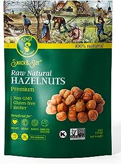 AZNUT Raw Hazelnuts Natural Non-GMO Certified,Kosher Certified, Resealable Bag 6 oz