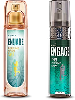 Engage W3 Perfume Spray For Women, 120ml and Engage M3 Perfume Spray For Men, 120ml