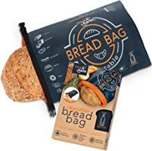 Think4earth – Linen Bread Bag - Reusable freezer bread bag for homemade bread maker gift giving - Bread Container for Sour...