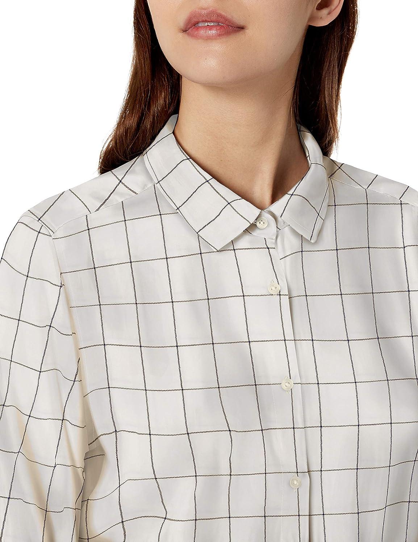 Brand Goodthreads Womens Modal Twill Tie-Front Shirt