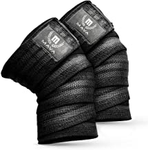Mava Sports Knee Wraps (Pair) for Cross Training WODs,Gym Workout,Weightlifting,Fitness & Powerlifting - Knee Straps for S...