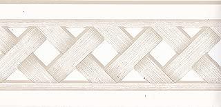 Sherwin-Williams Wallpaper Border 3508272 Ecru Basketweave with Cutouts