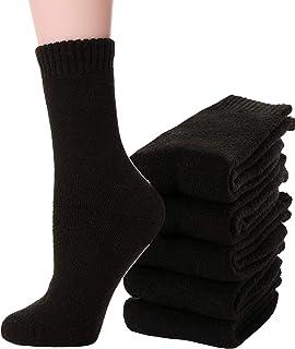 ANTSANG Womens Wool Socks Thermal Thick Warm Fuzzy Heavy Cotton Boot Winter Socks 5 Pairs